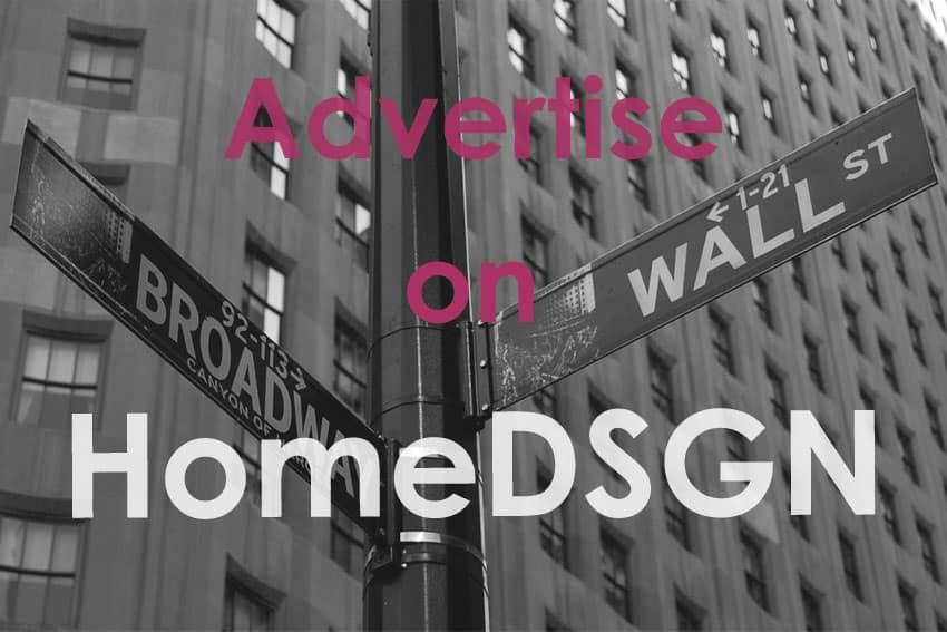 Advertise on HomeDSGN