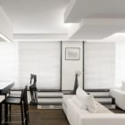 Monochrome Duplex Apartment remodeling in Paris by Pascal Grasso Architectures