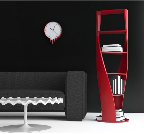 Mydna: a twisted Bookcase by Joel Escalona