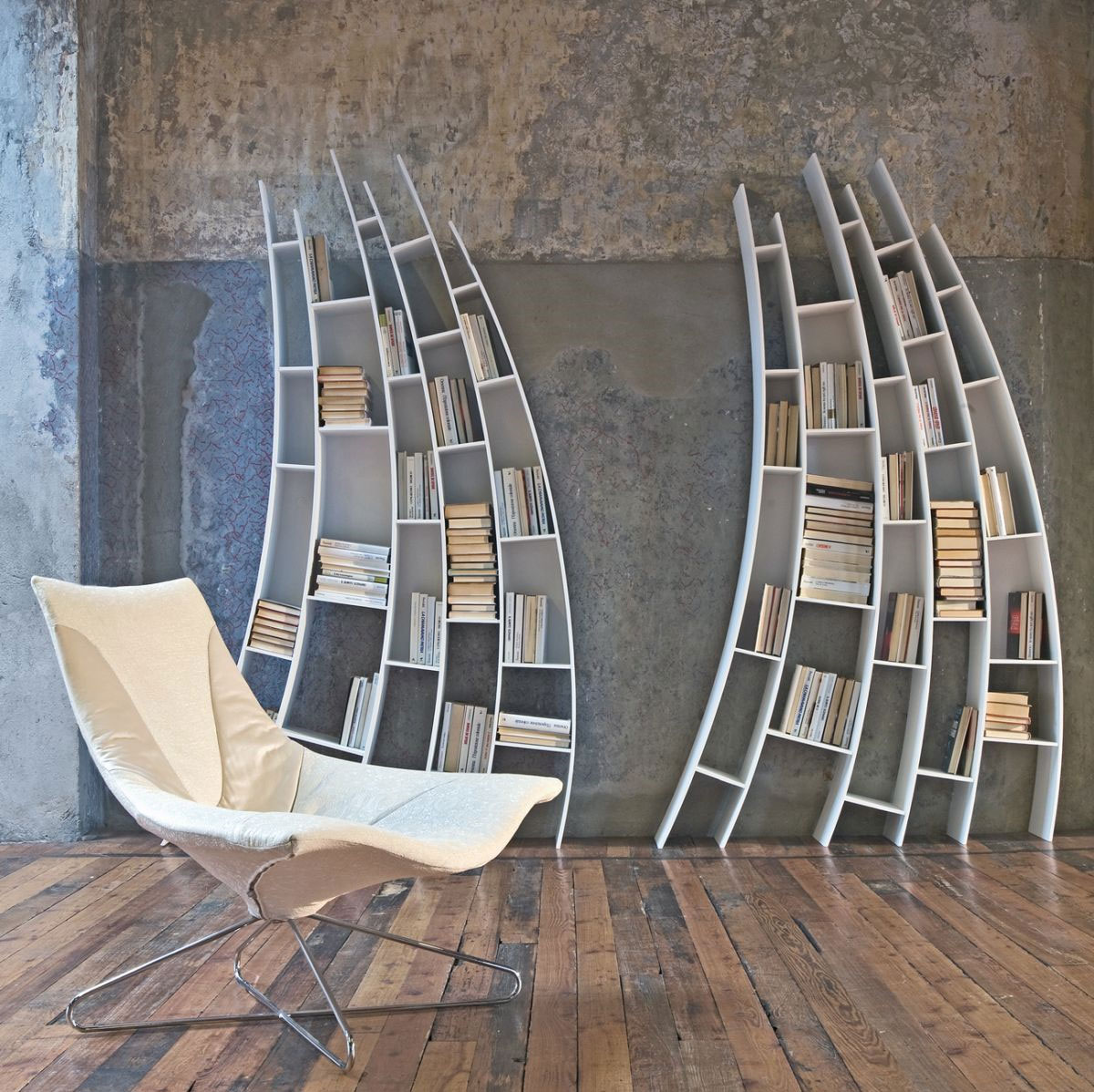 Primo Quarto: Sculptural Bookcase by Giuseppe Vigano