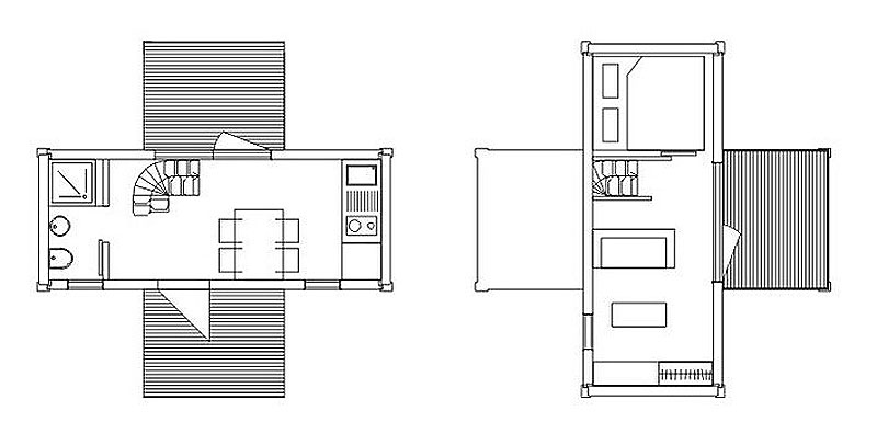 Weekend House 2+, a Container House by Jure Kotnik Arhitekt (1)