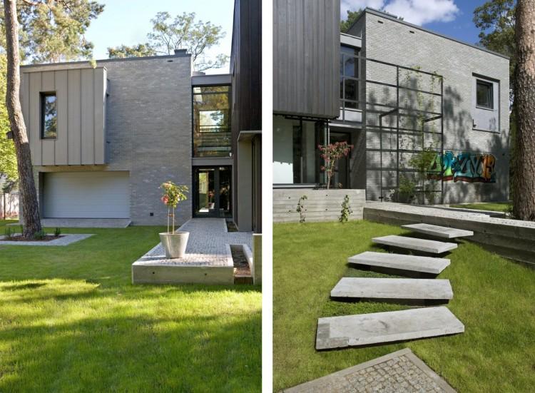 Open Air Sculpture House In Warsaw By Marek Rytych Architekt - Open-air-sculpture-residence-by-marek-rytych-architekt