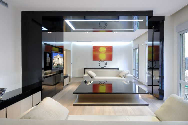 Serrano Apartments Amazing Urban Remodeling In Madrid By Acero Adorable Modern Apartment Interior Design Remodelling