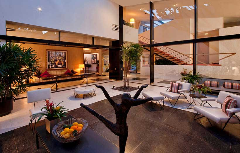 Brody House interior designed by A. Quincy Jones