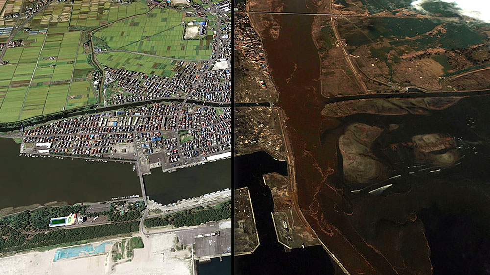 Japan Tsunami: Before and After