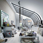 Amazing Loft-Studio of Artist Carouschka Streijffert in Stockholm