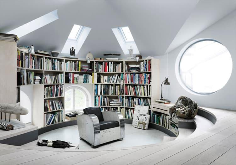 scandinavian design amazing loft studio of artist. Black Bedroom Furniture Sets. Home Design Ideas