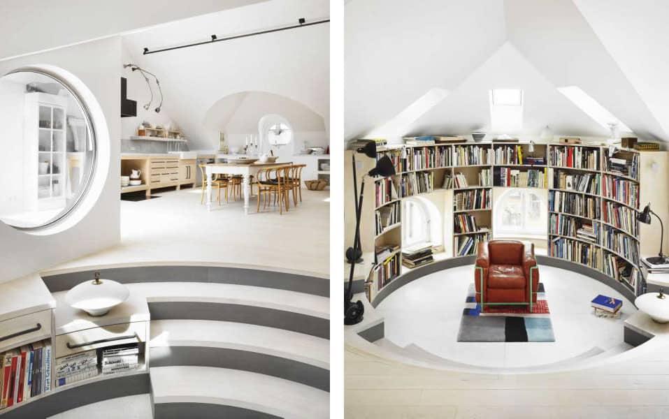 Amazing Loft-Studio of Artist Carouschka Streijffert in Stockholm