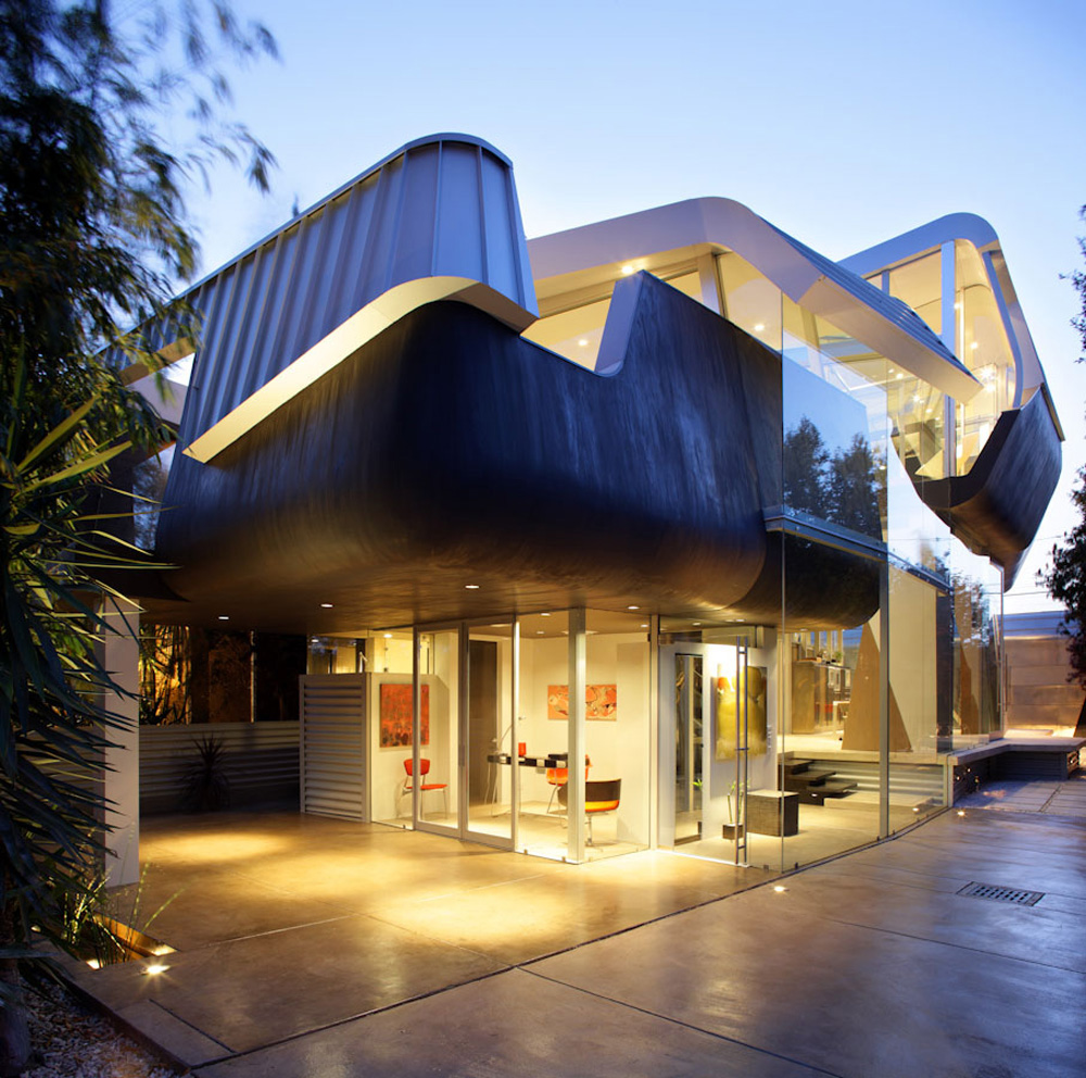 Most Creative Flooring Ideas For Your Modern Home: Unique House In Venice By Coscia Day Architecture And Design