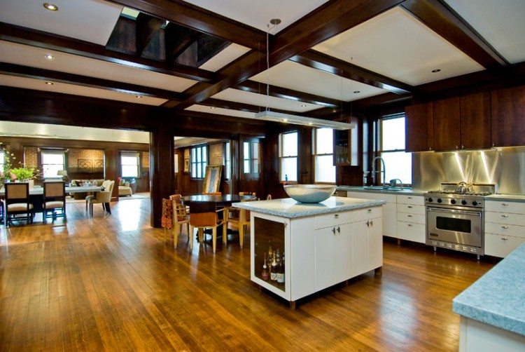 Impressive church conversion in san francisco for Church kitchen designs