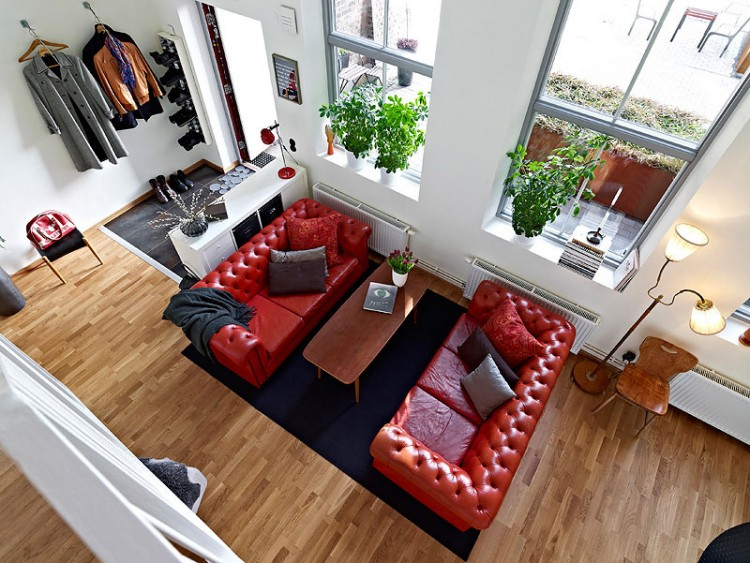 Scandinavian Design Beautiful Apartment With Mezzanine In Gothenburg Sweden