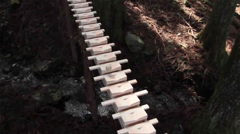 Giant Wooden Xylophone (Video)