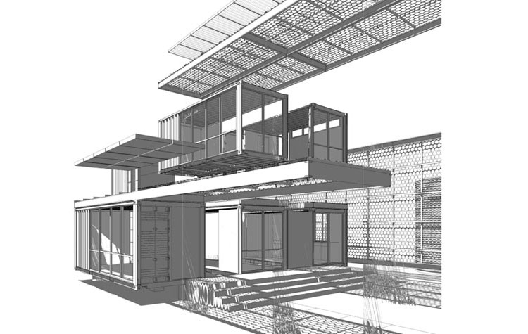 First Shipping Container House in Mojave Desert by Ecotech Design on fun house designs, good house designs, lightweight house designs, compact house designs, independent house designs, happy house designs, economical house designs, strong house designs, open house designs, cheap house designs, best passive solar home designs, efficient closet design, small house designs, rapid house designs, ranch house designs, zero energy house designs, spacious house designs, functional house designs, complex house designs, high efficiency home designs,