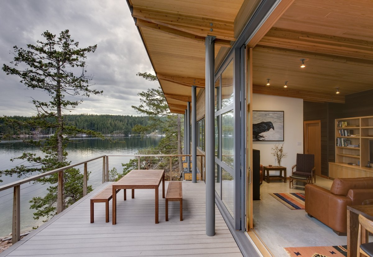 Contemporary Cabin on Cortes Island by Balance Associates Architects