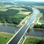 Magdeburg Water Bridge, the Longest Navigable Aqueduct in the World!
