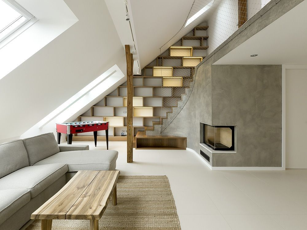 Rounded Loft In Prague By A1 Architects