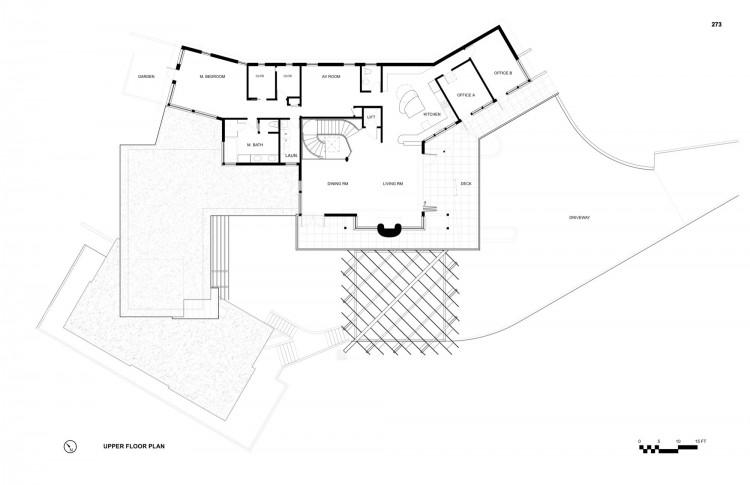 Mill Valley Hillside by McGlashan Architecture – Hillside Home Floor Plans