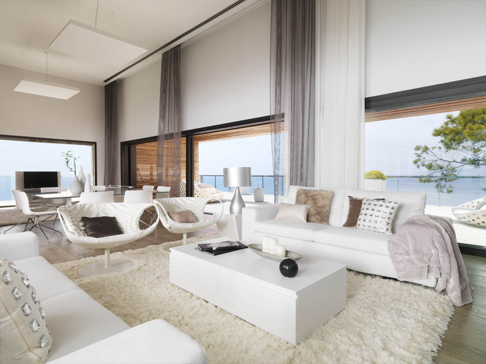 Pure White Interior by Susanna Cots