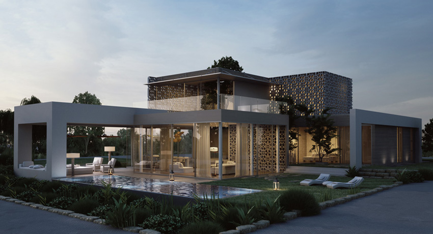 Eco-Golf House 3D Rendering by Studio Aiko