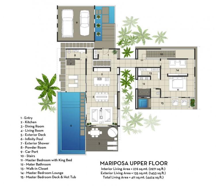 Black Beauty Mariposa in Costa Rica by Kalia – Costa Rica Home Floor Plans