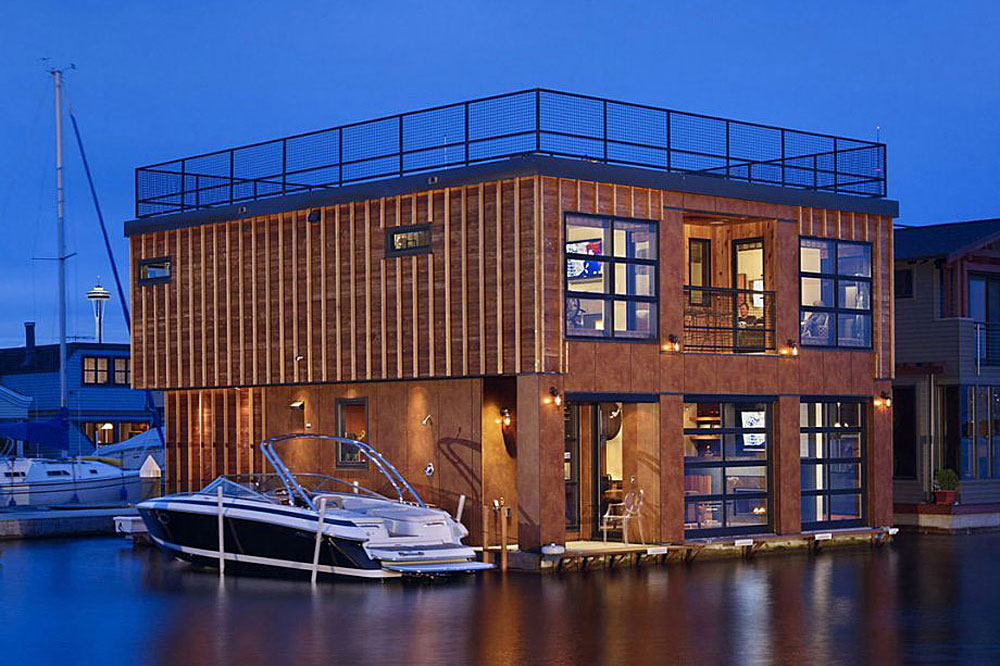 Lake Union Float Home by Designs Northwest Architects