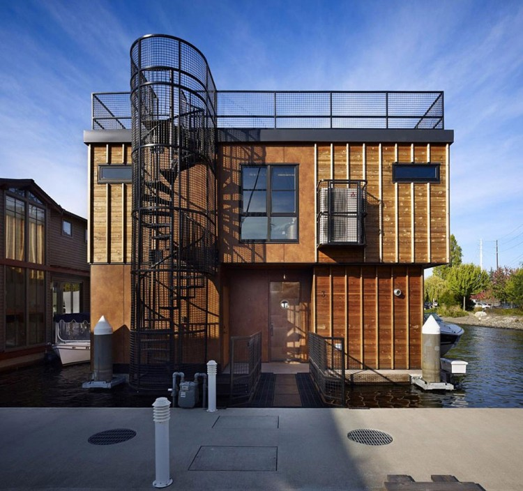 Lake union float home by designs northwest architects for Architects nw