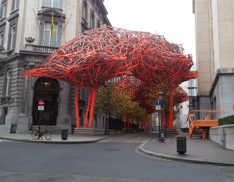 The Sequence A Urban Sculpture By Arne Quinze - Open-air-sculpture-residence-by-marek-rytych-architekt