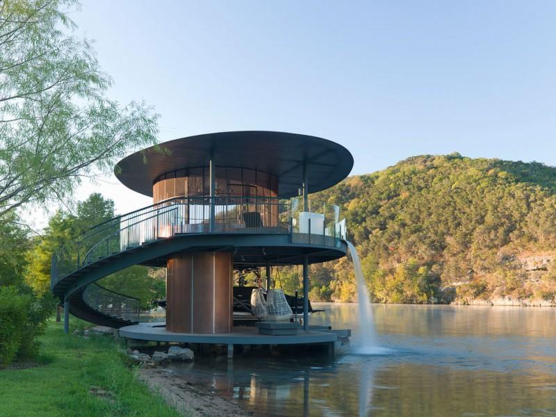 Shore Vista Boat Dock By Bercy Chen Studio - Awesome floating house shore vista boat dock by bercy chen studio