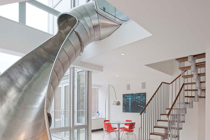 05. Duplex Apartment with a Helical Slide in New York City