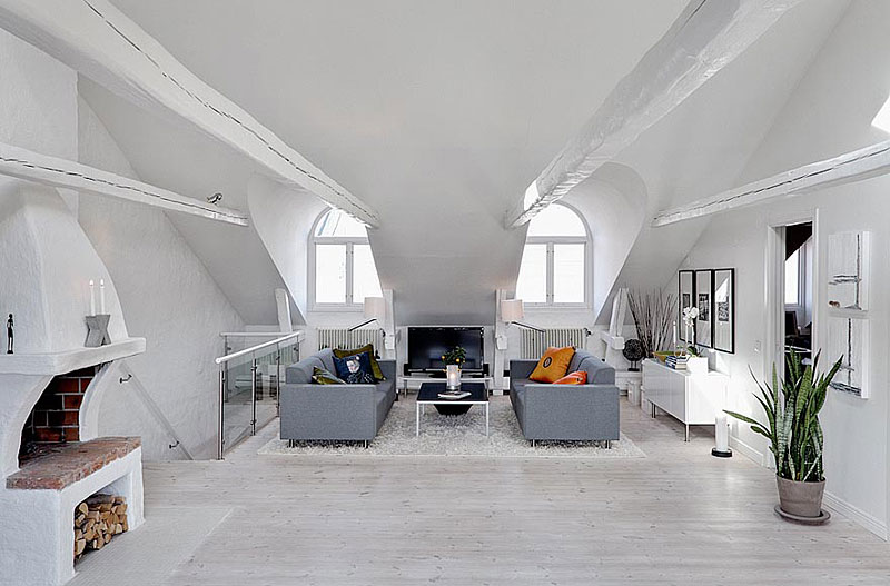 13. Bright Two Story Attic in Stockholm
