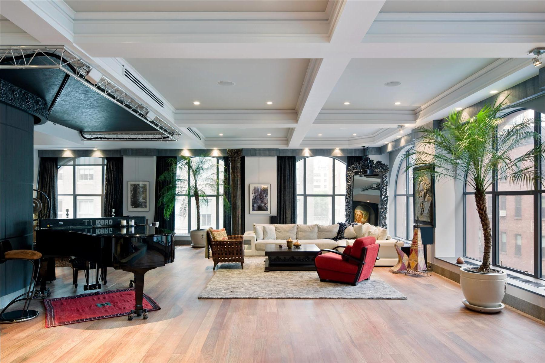 Captivating Two Spectacular Lofts In Tribeca