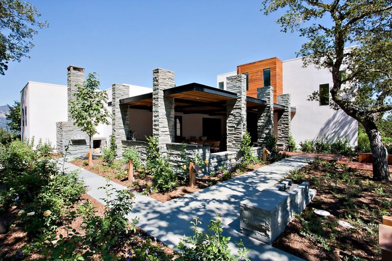 Calistoga residence by strening architects - Residence calistoga strening architects californie ...