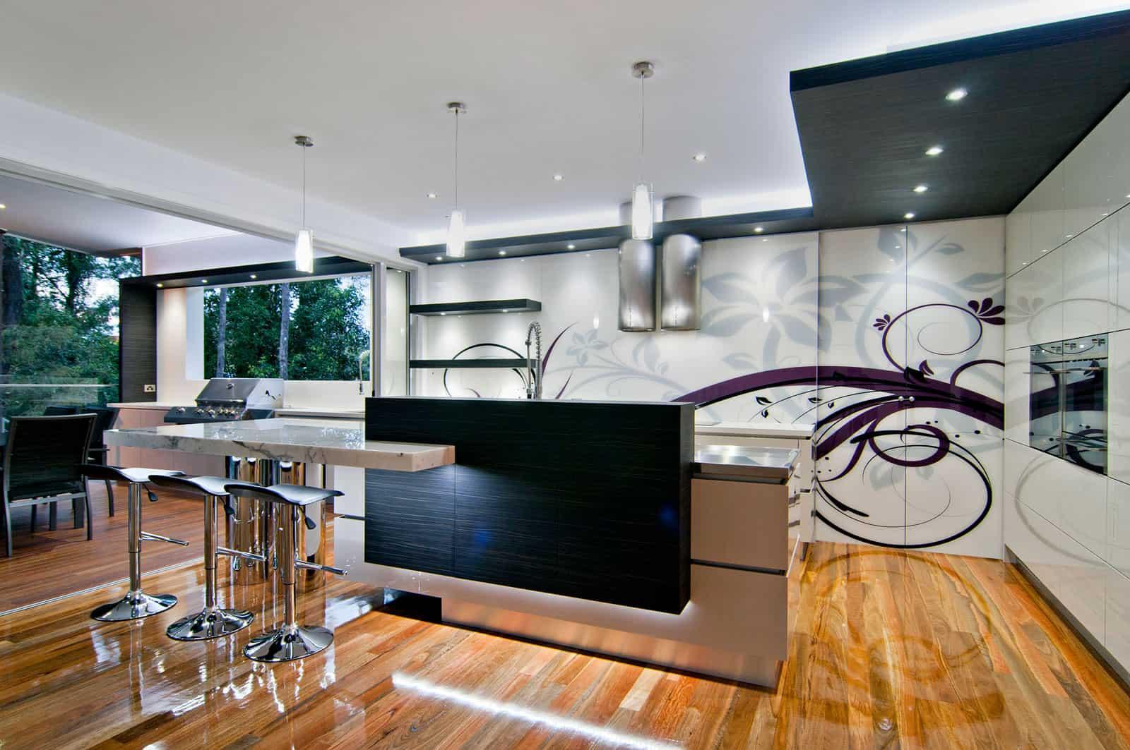 Bushland retreat designer kitchen by sublime architectural interiors