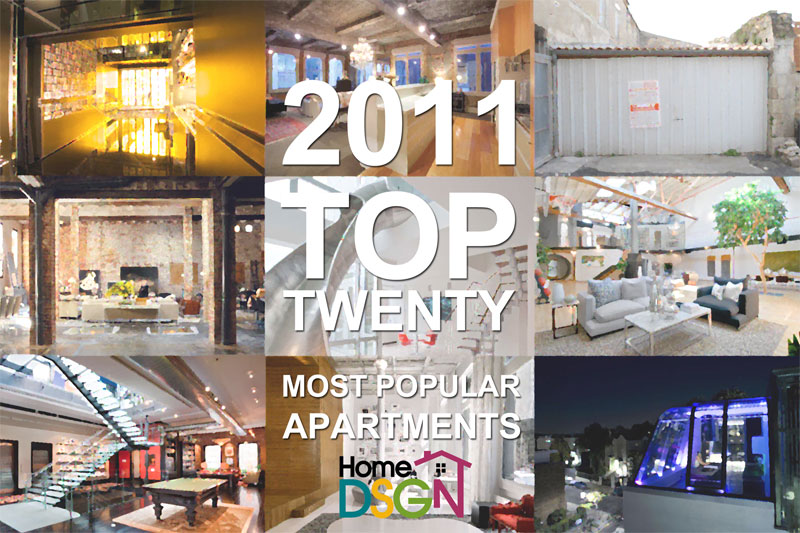 homedsgn s 20 most popular apartment interior designs of 2011
