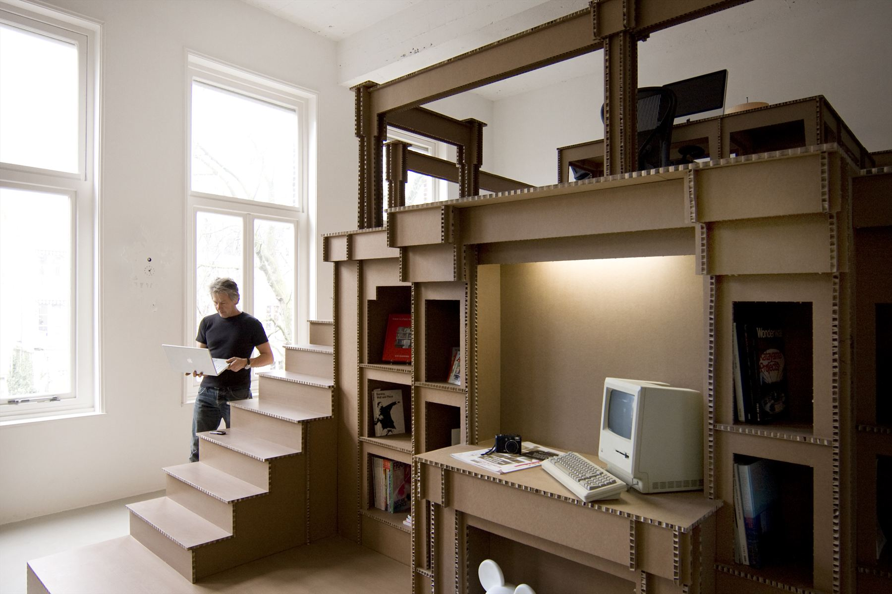 Nothing Cardboard Office Interior By Alrik Koudenburg And Joost Van Bleiswijk
