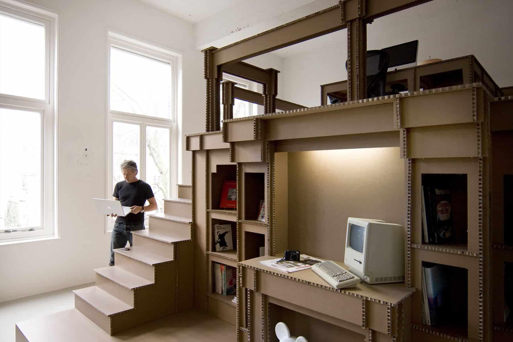 Nothing Cardboard Office Interior By Alrik Koudenburg And