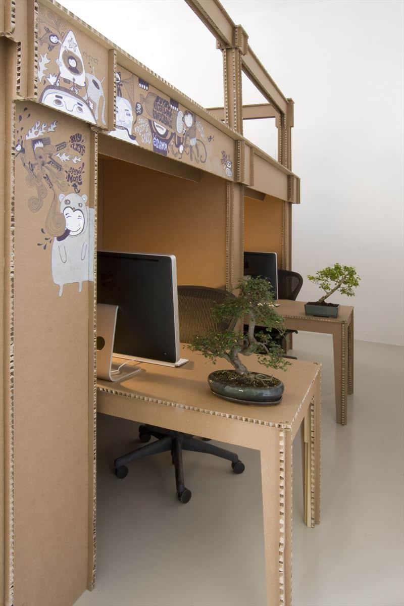 Nothing Cardboard Office Interior by Alrik Koudenburg and Joost van Bleiswijk