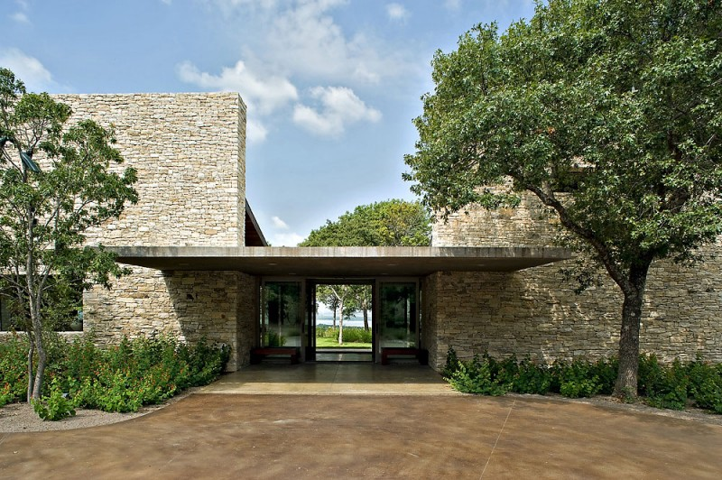 House on cedar hill by cunningham architects for Concrete house texas