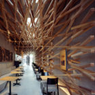 Starbucks Interior by Kengo Kuma and Associates