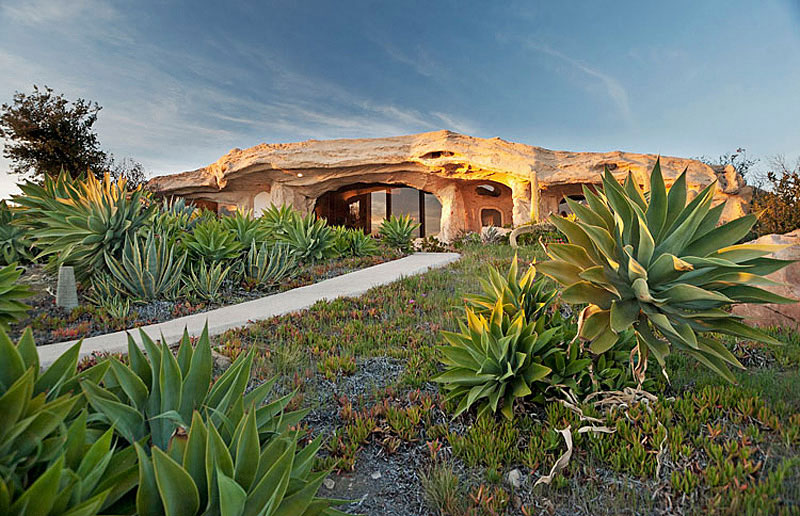 Dick Clark's Unique Flintstone-Style House For Sale in Malibu