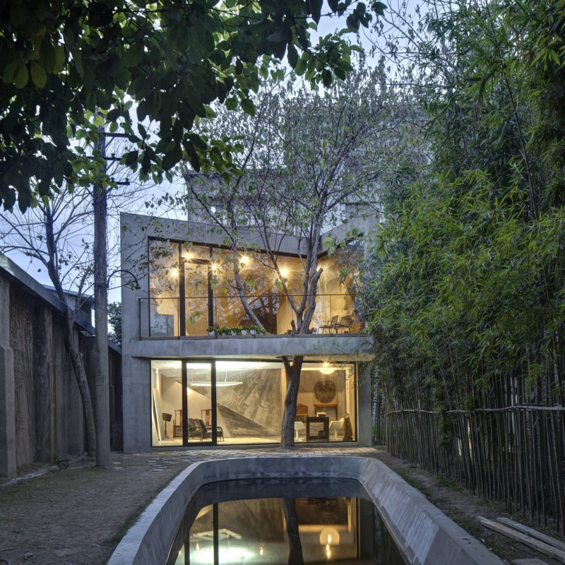 Tea House by Archi-Union Architects on shed home designs, tea house floor plans, grain silo home designs,