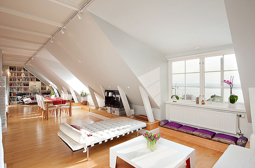 Scandinavian Design: Attic Penthouse in Stockholm with Spectacular Views