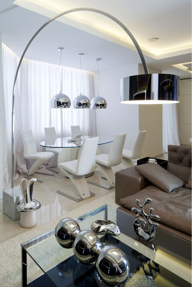 Shuvalovsky apartment in moscow by geometrix design