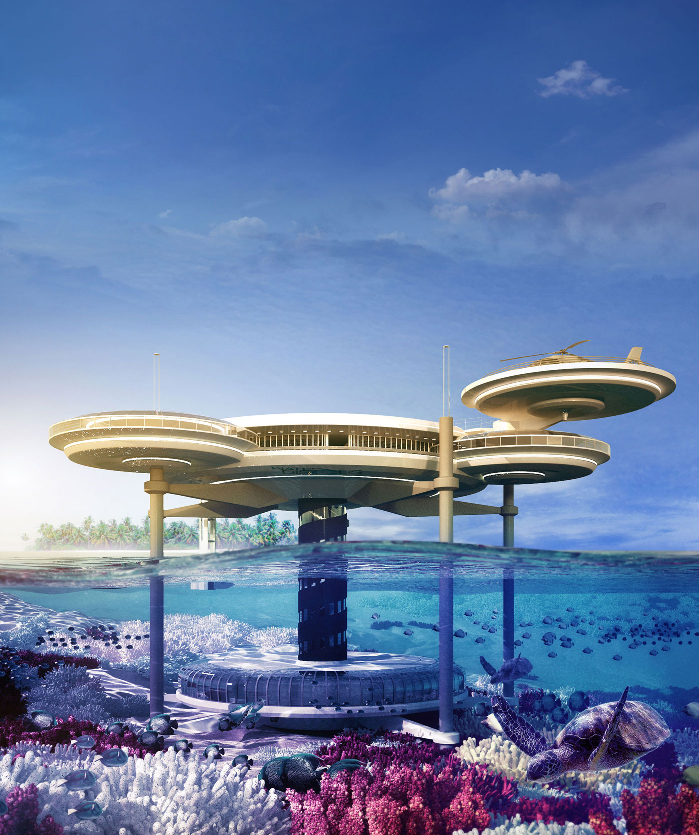The Water Discus Underwater Hotel planned for Dubai (1)
