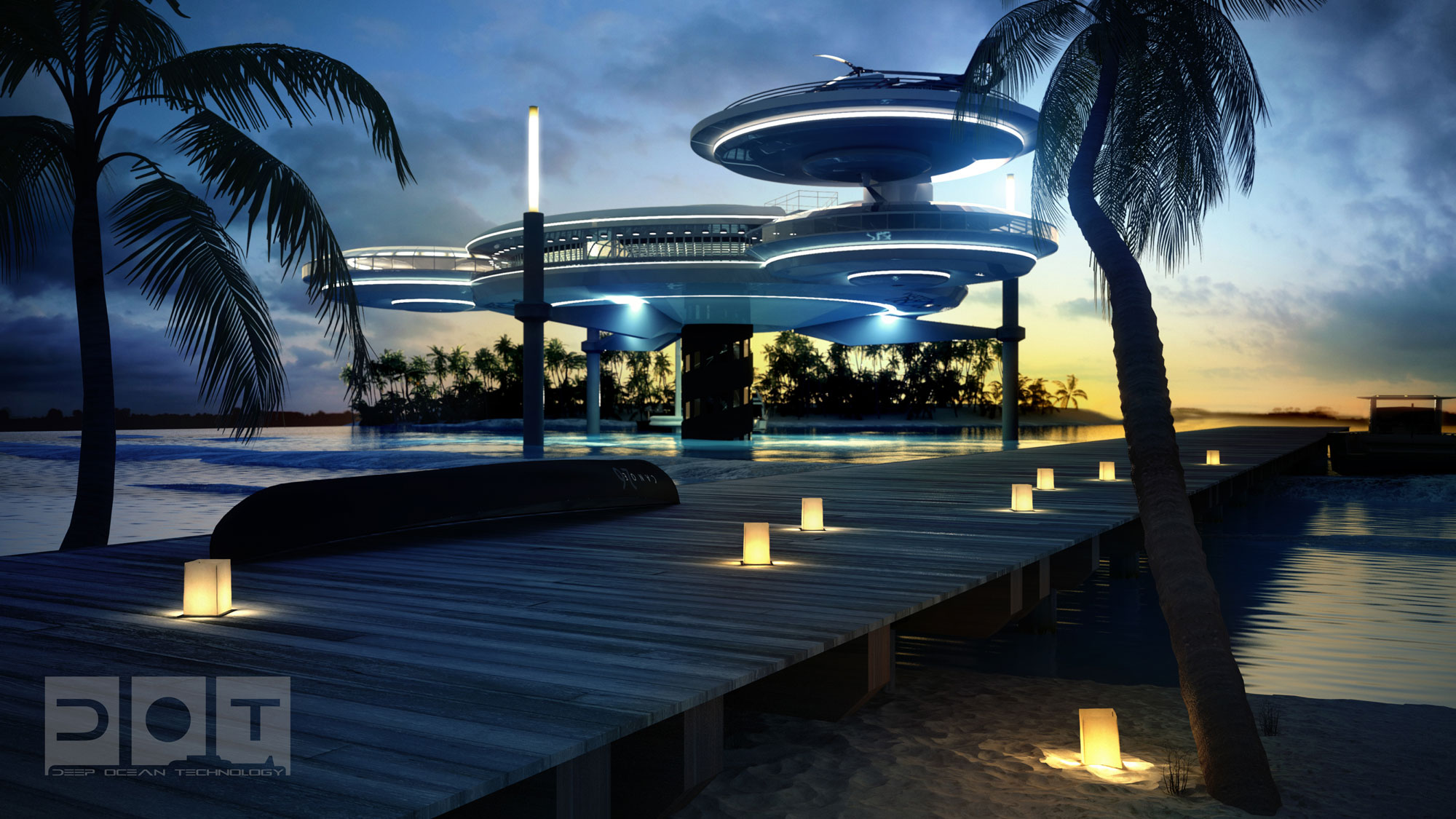 The Water Discus Underwater Hotel planned for Dubai (3)
