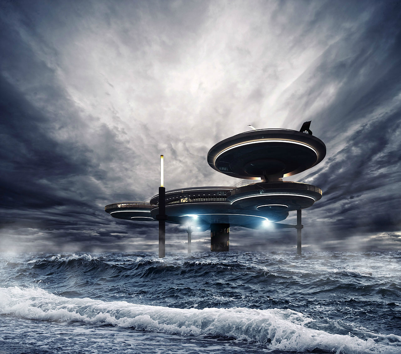 The Water Discus Underwater Hotel planned for Dubai (4)