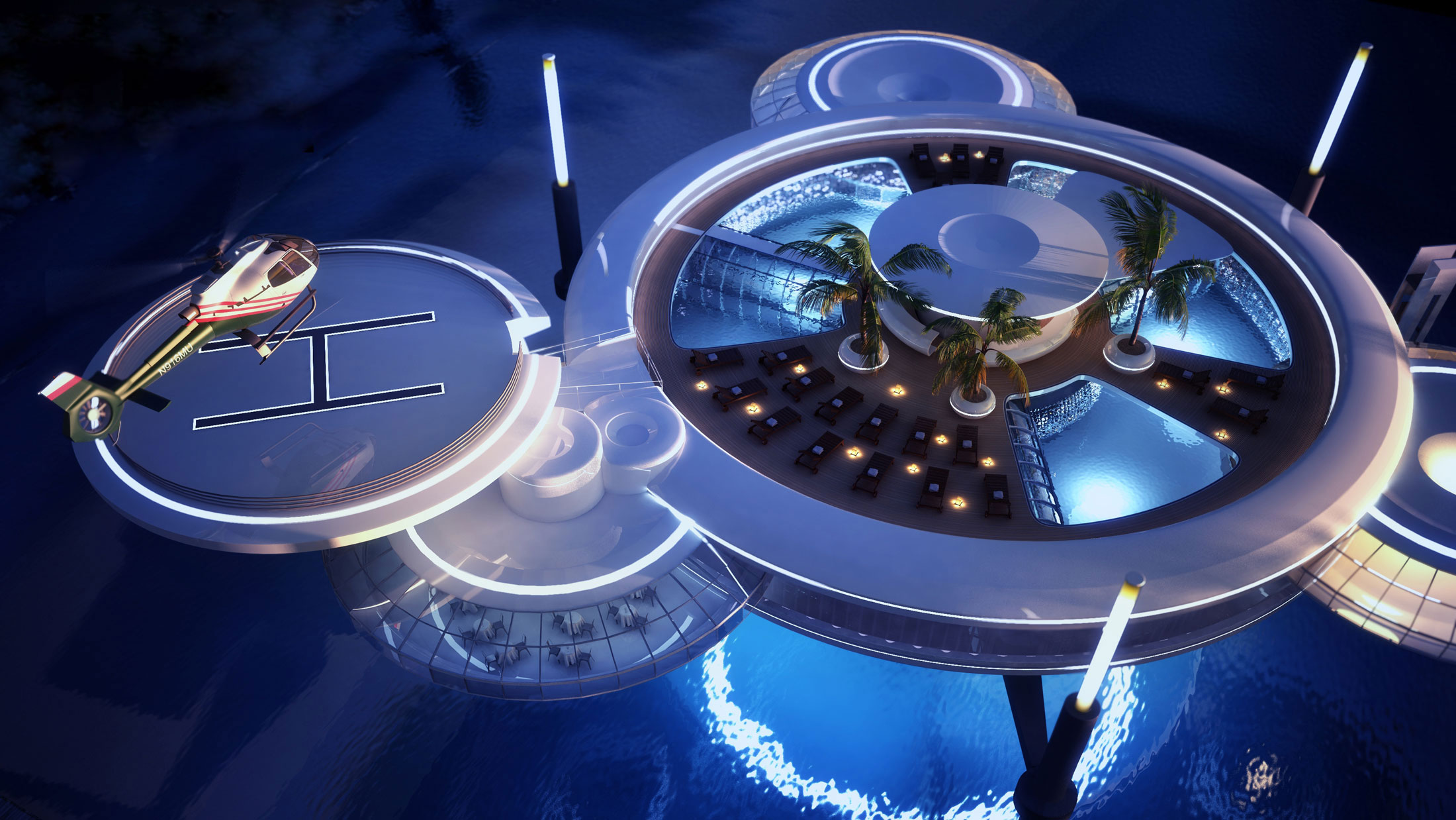 The Water Discus Underwater Hotel planned for Dubai (5)