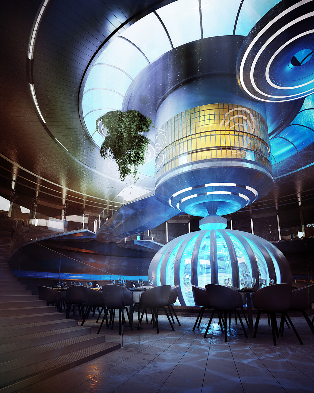 The Water Discus Underwater Hotel planned for Dubai (6)