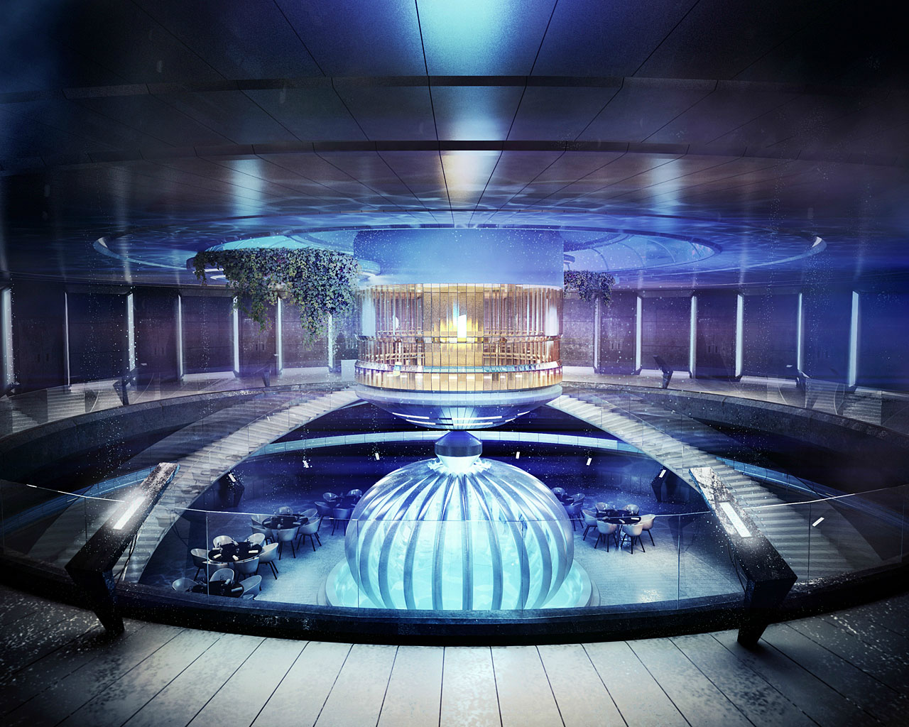 The Water Discus Underwater Hotel planned for Dubai (7)