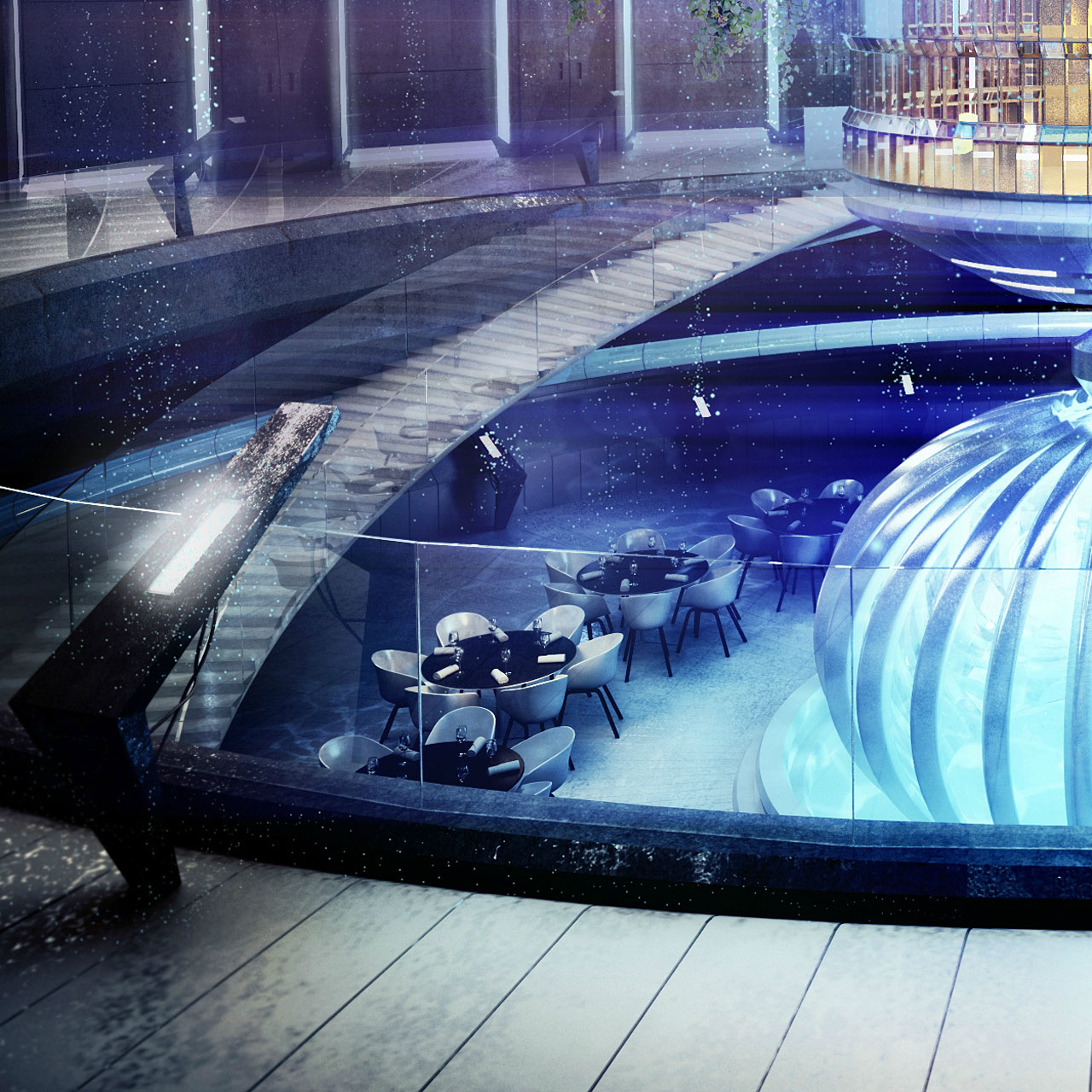 The Water Discus Underwater Hotel planned for Dubai (8)